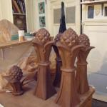 Pineapple finials