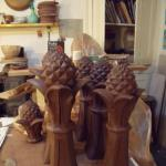 Pineapple finials 2