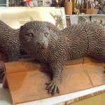 Maggie Curtis - Two double ridge tile wet otters